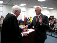 Swearing in county officials